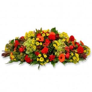 Oval funeral arrangement