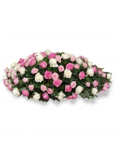 Funeral arrangement with only roses